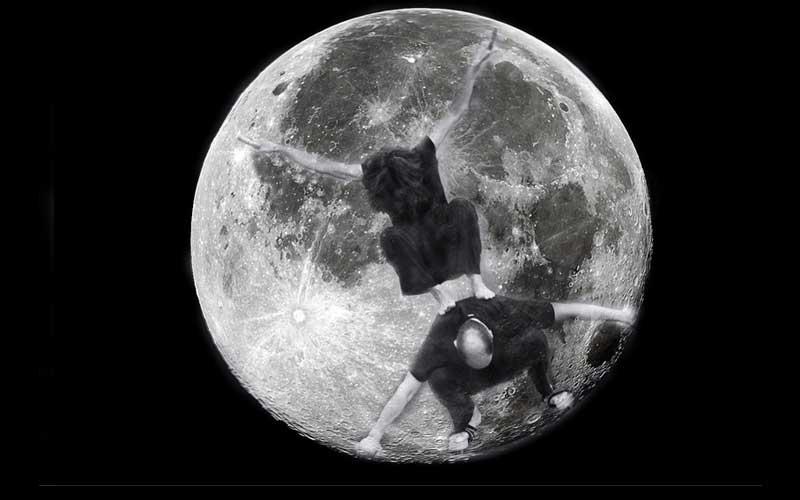 estudio (x) sobre la luna