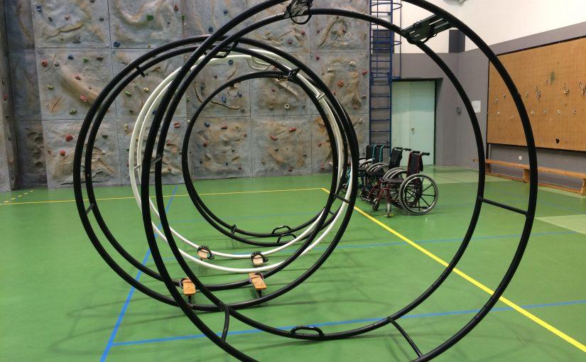 exploración creativa con ruedas alemanas y sillas de ruedas