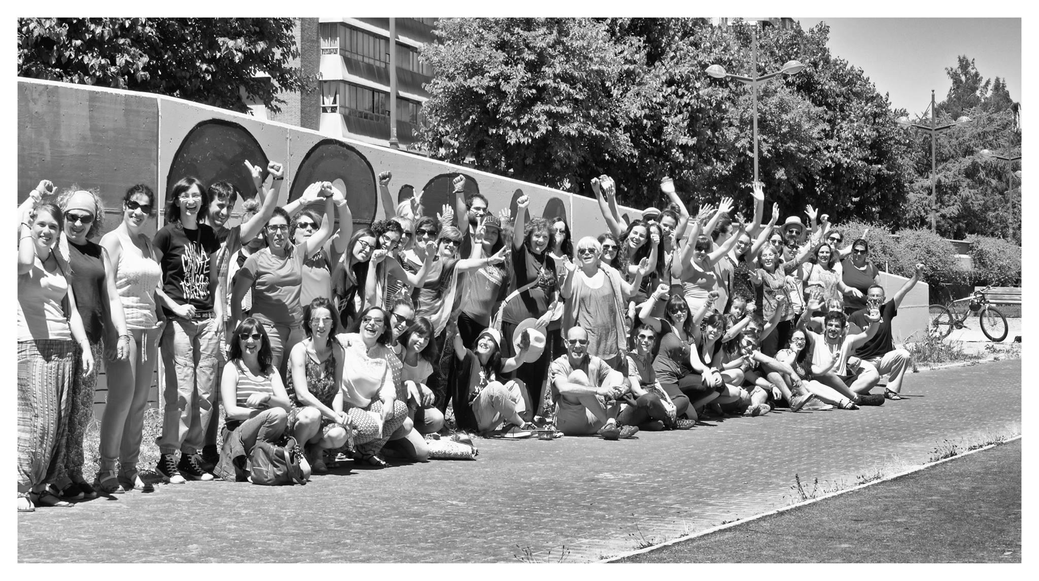 El colectivo de pintoras y pintores del curso de verano